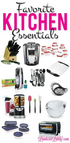 Great list of kitchen items for when you're planning a wedding registry!