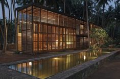 Studio Mumbai Architects have designed the Palmyra house in Nandgaon, Maharashtra, India.