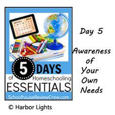 Awareness of Needs, Homeschooling Essentials