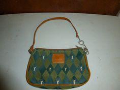 Golfino Sportswear Vintage Small Golf Accessories Clip Bag Argyle Design