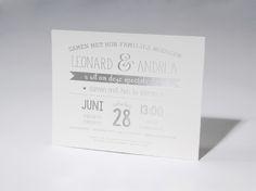 Trouwkaart 'Leonard & Andrea' artikelnummer 62.1201 prijs vanaf € 1,03 http://trouwkaarten.familycards.nl/kaartdetails/62.1201/