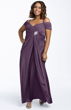 Alex Evenings Surplice Satin Dress (Plus) available at #Nordstrom