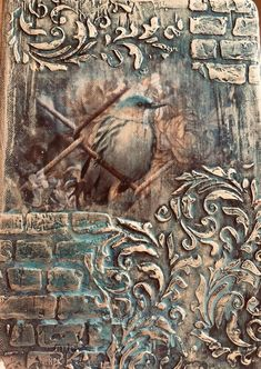 Texture Painting On Canvas, Mixed Media Painting, Mixed Media Canvas, Mixed Media Art, Canvas Art, Wall Painting Decor, Stencil Painting, Faux Painting, Decoupage Art