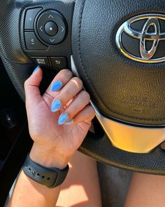 "Natalie Valentin on Instagram: ""Almond shape with Cinderella blue! #spring #blue #nails #nailsofinstagram #nail #nailart #nails💅 #nailsonfleek #nailfie #gelnails #gel…"""