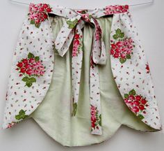 Handmade apron from vintage fabric stash