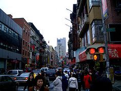 Nycctown.jpg -     This Chinatown is on the street Mott Street, in Manhattan, New York. Manhattan's Chinatown is also one of the oldest ethnic Chinese enclaves out of Asia. Although Quimbo Appo was claimed to have arrived in the area in the 1840s, the first Chinese person credited was Ah Ken.(MW)
