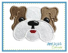 Bulldog Filled Embroidery Design