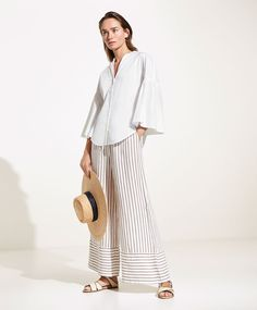 Linen palazzo trousers - Trousers Spring Summer 2017 trends in women fashion at Oysho online. Find lingerie, pyjamas, slippers, nighties, gowns, fluffy, maternity, sportswear, shoes, accessories, body shapers, beachwear and swimsuits & bikinis.