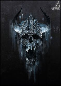 Viking skull tattoo idea