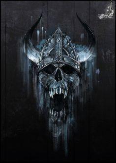 Viking skull tattoo idea