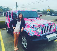 Beep! Beep! It's the Lilly jeep! #lillypulitzer #preppy