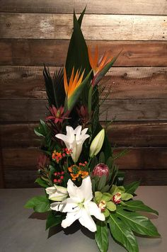 Selecting The Flower Arrangement For Church Weddings – Bridezilla Flowers Altar Flowers, Home Flowers, Church Flowers, Funeral Flowers, Exotic Flowers, Tropical Flowers, Silk Flowers, Purple Flowers, Tropical Flower Arrangements