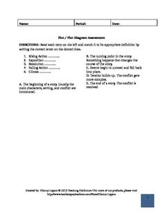 Plot Diagram & Story Elements Activity | Plot diagram, Story ...