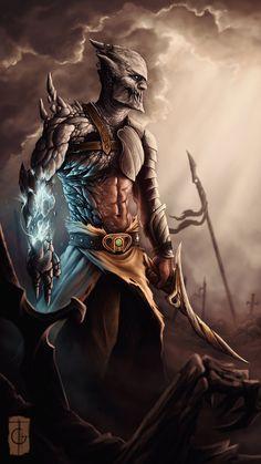 Warrior Of Time, Rodney Amirebrahimi on ArtStation at https://www.artstation.com/artwork/warrior-of-time