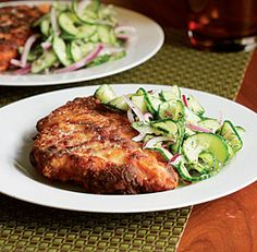 Buttermilk Country Fried Chicken with Cucumber Salad