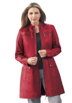 3/4 Length Leather Jacket | Leather Jackets | Jessica London