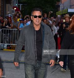 Bruce Springsteen leaves 'The Daily Show With Jon Stewart' at the Daily Show Building on August 6, 2015 in New York City.