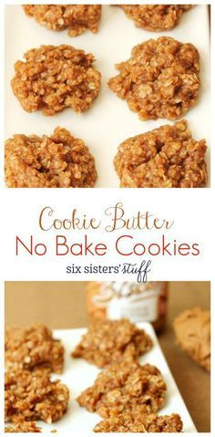 Cookie Butter No Bake Cookies From Six Sisters Stuff We Are Addicted To These