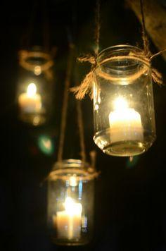 Hanging candle jar