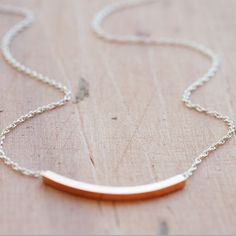 rose gold simple necklace