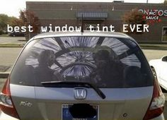 For the sci-fi geek in all of us - this a very cool window tint.  Anyone know where to buy one?