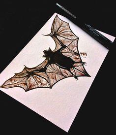Dibujos de Halloween: murciélago  Original y por DrawingsByPatricia