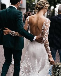 The most shared photo of Beautiful bride Marijke in here bridal jumpsuit by and here husband in a stunning suit by… Luxury Wedding, Dream Wedding, Wedding Beauty, Elegant Wedding, Perfect Wedding, Fall Wedding, Bridal Gowns, Wedding Gowns, Wedding Jumpsuit