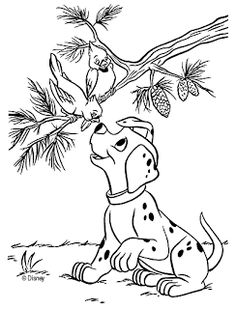 101-Dalmations Coloring Page - Print 101-Dalmations pictures to ...
