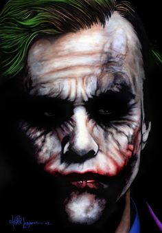 The Joker - my favorite movie villain  #batman #joker #art