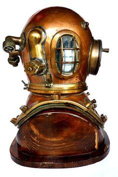 1840, August Siebe deep sea diving helmet