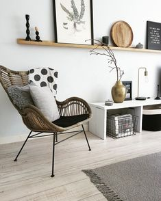Rattan-Sessel Egg We love rattan! The rattan armchair Egg brings a touch of natural chic in your living room with its refreshing and contemporary design. // Living room rattan chair armchair cushion w Home And Living, House Interior, Living Room Decor, Living Room Colors, Home Living Room, Home, Interior Design Living Room, Interior, Room Interior
