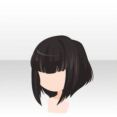 hair - black - straight and uniform Character Inspiration, Hair Inspiration, Pelo Anime, Chibi Hair, Manga Hair, Hair Sketch, Anime Style, Hair Styles Anime, Hair Reference