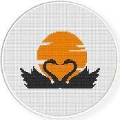 Swan Lovers Cross Stitch Pattern - via @Craftsy