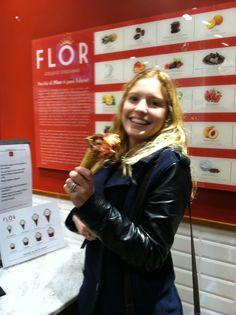 LIM student, Lindsay Nunnery, loving Italian gelato.