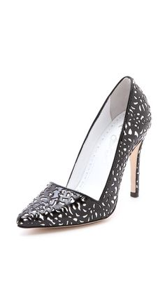 I love everything by Alice + Olivia more each day. alice + olivia Dina Laser Cut Pumps