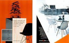 "Magazine Advertisement for Interiors: ""Opening of New York Showroom,"" 1955; Magazine Advertisement for House & Garden: 1953."
