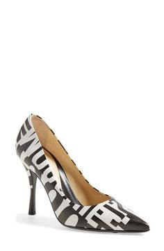 Moschino Print Pointy Toe Pump (Women) available at #Nordstrom