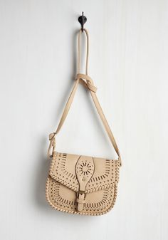 Sunny Experience Bag in Latte. Carrying your necessities in this vegan faux-leather purse is a heartwarming experience! #cream #modcloth