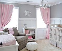 Adorable baby girl's room
