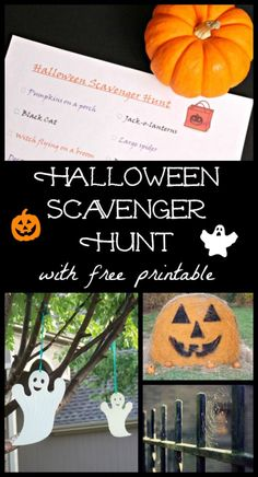 Free Printable Halloween Scavenger Hunt - perfect for parties, evening walks, classroom activities and more!