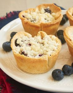 Traditional blueberry pie gets miniaturized and filled with sweetened cream cheese in these Mini Blueberry Cream Cheese Pies! - Bake or Break