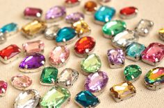 Mixed Rhinestone Push Pins, Rhinestone Thumbtacks, Colorful Rhinestone Thumb Tacks, Shiny Decorative Pushpins, Mixed Colors, Mixed Shapes