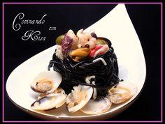Cocinando con Kisa: Spaghetti Di Nero Di Seppia Marinero (fussioncook)