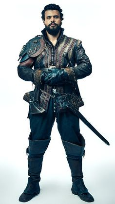 The Musketeers - Howard Charles as Porthos Bbc Musketeers, The Three Musketeers, Musketeer Costume, Howard Charles, Movies Playing, Bbc One, Medieval Fantasy, Medieval Knight, Costume Design