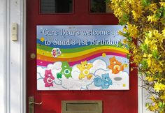 Gorgeous high-res Care Bears welcome sign measuring x Care Bear Birthday, Care Bear Party, Event Planning Design, Care Bears, Baby Showers, Welcome, Birthday Ideas, Jackson, Party Ideas