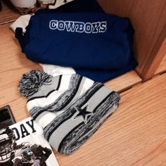 Cold weather gear for tonight #DALvsCHI #DallasCowboys ❤️That's my beanie!! :)