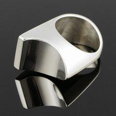 #shopjewelry > Arne Johansen (DK), vintage modernist sterling silver ring, 1960s. #Denmark | finlandjewelry.com