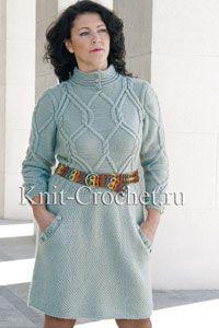 Платья, связанные спицами - Вязание спицами - Каталог статей - Вязание спицами и…
