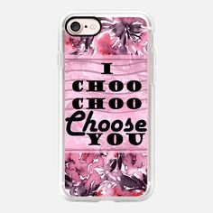 I CHOO CHOO CHOOSE YOU, BLUSH VIOLET, By Artist Julia Di Sano, #EbiEmporium on #Casetify @casetify #iPhoneCase #casetifyartist #pretty #tech #iPhone7 #iPhone6 #iPhone7Plus #case #floral #romance #valentine #romantic #love #flowers #pink #blushpink #typography #valentinesday #love #girly #watercolor #style