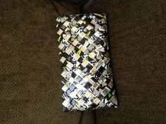 Snack wrapper purse  (made from smartfood popcorn bags)